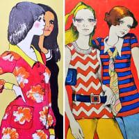 渡部明美の60~70年代『週刊セブンティーン』のカラーイラストも発掘