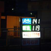 レギュラー141円