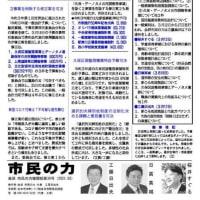 新年度。会派機関紙「市民の力」添付。大阪・兵庫・宮城にまん延防止適用。