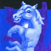 「蒼海馬」13(アクリル画)