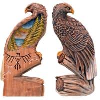 最新作品 オジロワシ 木彫刻(チェンソーアート)