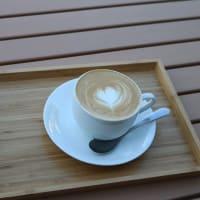 熊谷ラグビー場でカフェラテ