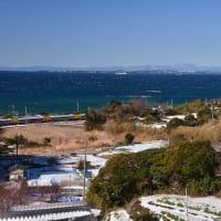 東京湾と内房の冬景色