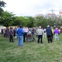 ミャンマーの軍事政権による市民虐殺に抗議する集会と道じゅねー