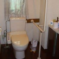 鉄骨階段の確認とトイレの手摺。