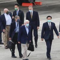 米政権派遣のアーミテージ氏ら台湾入り 蔡総統と会談