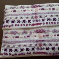 紫色のハーモニー刺繍
