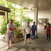 避難訓練とムラサキシキブ