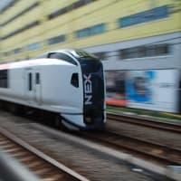 E259系 流し撮り【横須賀線:鶴見駅脇】 2019.10.4