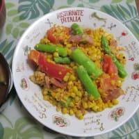 7/14トウモロコシのフルコースで夕ご飯