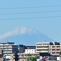 09月28日 富士山の白帽子