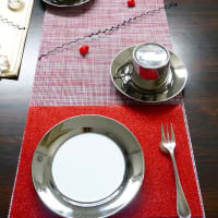 1月リクエストメニュー コフレ・ア・ビジュウのテーブル