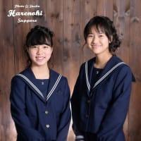 1/17 中学の制服で卒業写真 札幌写真館フォトスタジオハレノヒ