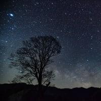 開田高原の星空(天と地の融合)