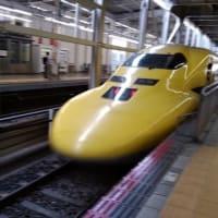 兵庫県、高橋みつお支援、新幹線イエロードクターカーに遭遇!