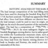 カール12世を打ち抜いたとされる真鍮釦の同位体調査結果