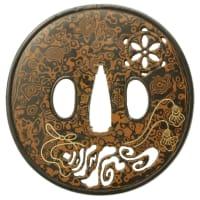 法螺貝図鐔 正阿弥盛国 Morikuni Tsuba