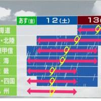 台風19号 暴風・大雨・高波 警戒が必要な時間帯