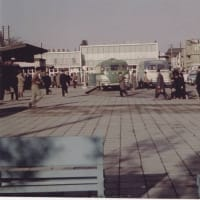 店内に昭和30年代頃の小田原の写真|小田原魚河岸でん