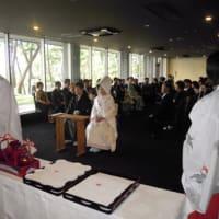 今日は浦島にて出席者150名様の結婚披露宴