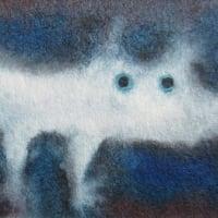 白犬(青に煙る夜の色)