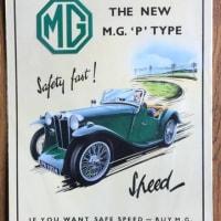 イギリスの名車「MG」の貴重な英国製アンティーク・グッツ!そして「NEC」が作った「MG-A」の激レアなマウスパッド&「MG」表紙の洋書「クラシックカー写真集」だぜ!