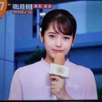 今夜上陸「関東最強」台風19号情報を「めざましどようび」で伝えるのは今宮戎福娘代表 谷尻萌さん