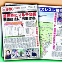 日曜版8日号 「桜」首相枠 悪徳商法にお墨付き