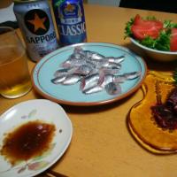 釧路産イワシと生鯨の刺身