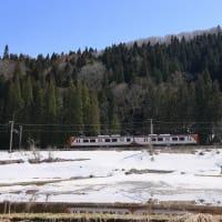 残雪とSR1系200番台