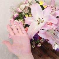 発表会でいただいた花