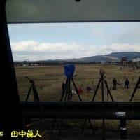 若草山の山焼きに興じる撮影地の確保