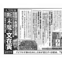 本日付(9月15日)の 日経新聞・琉球新報・沖縄タイムス に『自由のために、戦うべきは今―習近平vs.アグネス・チョウ 守護霊霊言』『断末魔の文在寅 韓国大統領守護霊の霊言』の広告が掲載されました