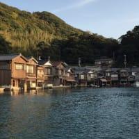 京都 伊根の舟宿と町散策・湾巡り