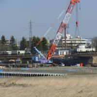 日野橋復旧工事の様子