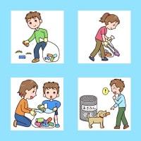 「空き缶拾い1」(環境美化/人物)