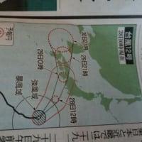 異例の進路を辿った台風12号