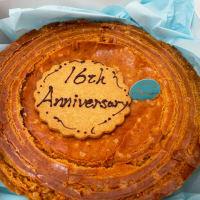 16周年のお祝いに『ラトリエ ドゥ ノノ』さんのガトーバスクケーキを