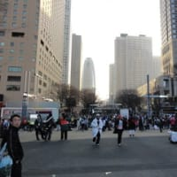 都庁前から日比谷公園までを走りました。