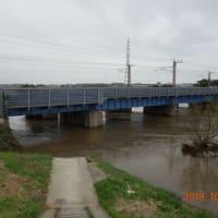今朝の小貝川の水位