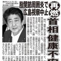 顔がますますむくんでドス黒くなっている安倍晋三は「マジでヤバい」!(2018年7月18日 日刊ゲンダイ)(2018年9/4・9/6 NHK)