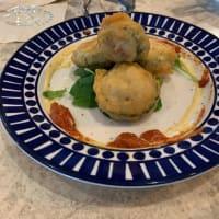 真夏の街イタリアン 3.ゴーヤに二種のソースと、シチリア・レモン