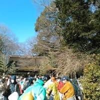 広瀬神社の砂かけ祭りの風景