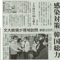 感染対策 韓国総力 検査1日1万人・隔離支援4万円/文大統領が現地訪問 新型コロナ・・・今日の赤旗記事