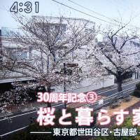 桜咲く緑道に面した花見ができる家【BS朝日「渡辺篤史の建もの探訪」】