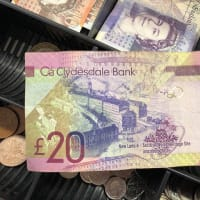ストックポートでも立派に通用、見慣れないスコットランドの紙幣、クモの巣にクモ!角数拡大続き番号他
