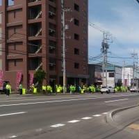 春の交通安全運動人並街頭啓発