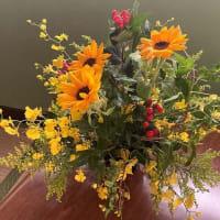 感謝状とともに花束
