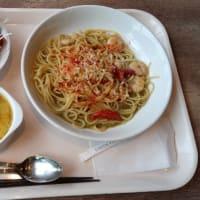 小海老とドライトマトのグリーンカレースパゲッティ