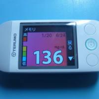 1/20 今朝の血糖値です。大寒。